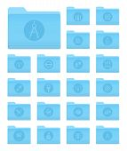 Folders With Art And Design Icons