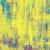 Old retro vintage texture. With yellow, purple, blue patterns