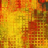 Vintage texture for background. With yellow, red, orange, green patterns