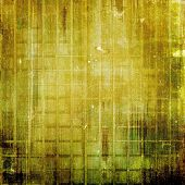 Old-style background, aging texture. With yellow, brown, green patterns