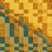 Old abstract texture with grunge stains. With yellow, brown, green, gray patterns