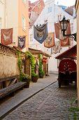 Narrow Street In Old Riga