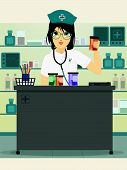 Doctor holding prescription bottle