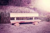 Retro Vintage Filtered Picture Of Wooden Bench.