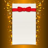 Christmas Background With Blank Sheet Of Paper.