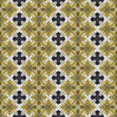 Mosaic of small glazed stones