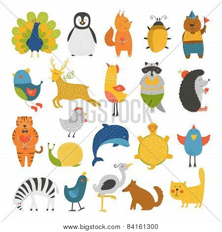Cute creatures gathering, child creatures, creatures vector