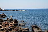 Rocky coastline, Nisyros island