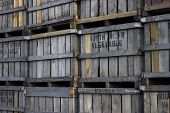 Several Old Wooden Fruit Crates