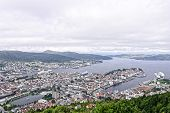 image of tromso  - aerial view of tromso in summer time - JPG