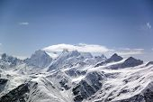 Big high mountain. Caucasus. Russia.