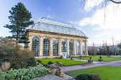 foto of royal botanic gardens  - The Palm House at Edinburgh Royal Botanical Garden - JPG