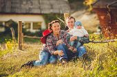 foto of threesome  - Young family - JPG