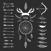 pic of bow arrow  - Vector Tribal design elements - JPG
