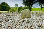 stock photo of bute  - View of Templewood Stone Circle Kilmartin Glen Scotland in cloudy day - JPG