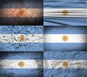 foto of south-pole  - Flag of Argentina with old texture - JPG