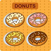 stock photo of donut  - Tasty donut  - JPG