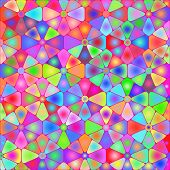 stock photo of psychodelic  - Abstract backgrounds with colored psychodelic tiles  - JPG