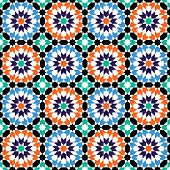 stock photo of tile  - Moroccan style mosaic ornament - JPG