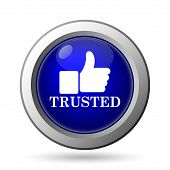 image of trust  - Trusted icon - JPG