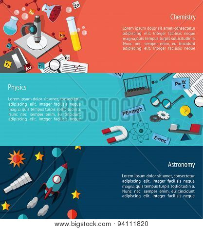 Science Education Infographic Banner Template