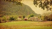 pic of english cottage garden  - Village in Lake District - JPG