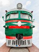 picture of locomotive  - vintage locomotive on the background of sky - JPG