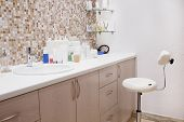stock photo of cosmetology  - Interior of a cosmetology office - JPG