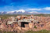 picture of armenia  - ancient observatory of patients with stones in Armenia - JPG
