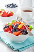 pic of apricot  - fruit salad with strawberry blueberry apricot - JPG