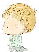 foto of pajamas  - Illustration of a Boy in Pajamas Kneeling Down in Prayer - JPG