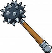 picture of mace  - Mace on a white background vector illustration - JPG