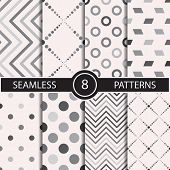 picture of rhombus  - Set of vector seamless geometric pattern backgrounds and textures for decoration - JPG