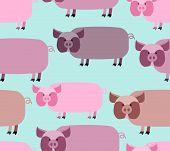 foto of pig  - Pig seamless pattern - JPG
