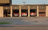 pic of fire-station  - Fire equipment and rescue on standby at station  - JPG