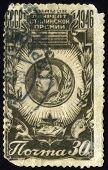 Old Soviet Postage Stamps.