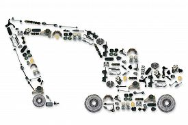 pic of excavator  - spare parts for truck or excavator - JPG
