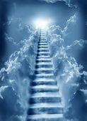 foto of stairway to heaven  - stairs in sky - JPG