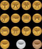 Hardware Set Round Gold