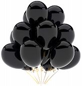Black balloons party decoration