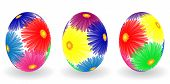 Easter Eggs With Decor Elements