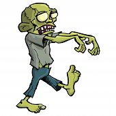 Cartoon-Zombie, Isolated On White