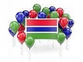 Постер, плакат: Flag Of Gambia With Balloons