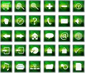 Green Web Navigation Icons