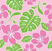 Naadloze Hawaii zomer patroon