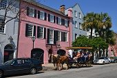Rainbow Row and Tourism, Charleston, SC