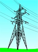 High Voltage Tower (Vector)