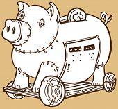 Trojanisches Pferd-Sparschwein