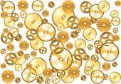 stock photo of gear wheels  - vector gear background - JPG