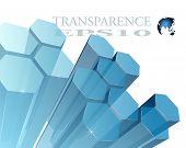 3d abstrakt Hintergrund transparent-Vektor-illustration